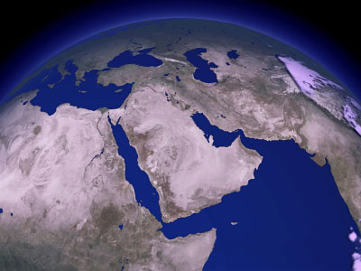 Middle East Satellite View