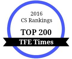 CS Rankings Top 200