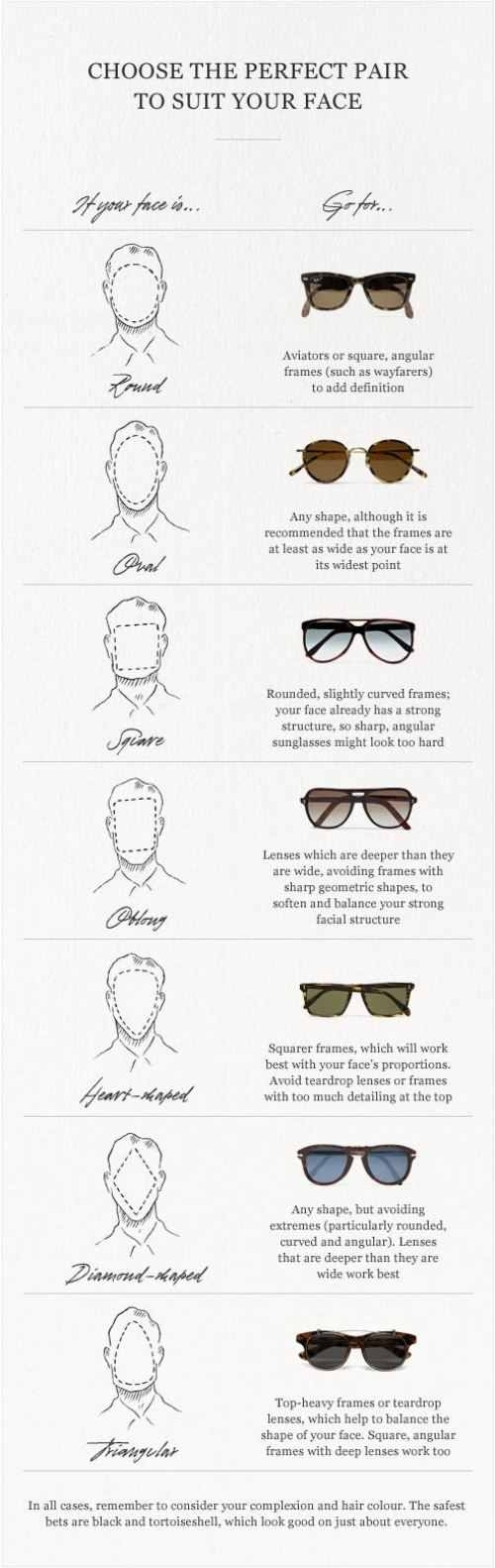 Perfect Pair of Sunglasses for Your Face
