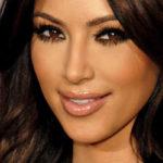 Kim Kardashian looks at camera