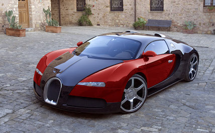 Bugatti red and black