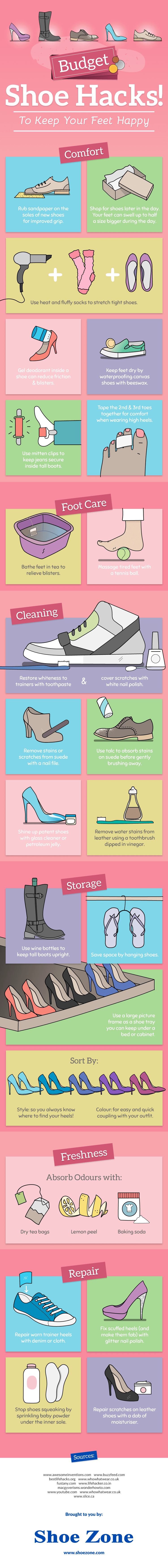 Budget Shoe Hacks