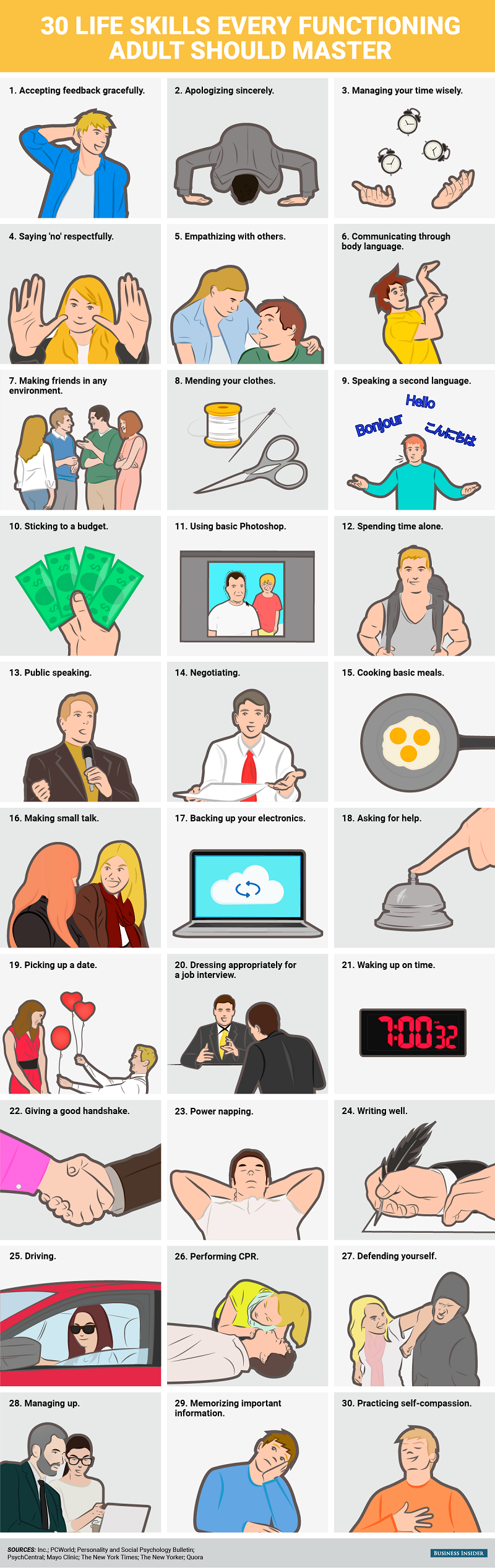 30 Life Skills Every Functioning Adult Should Master