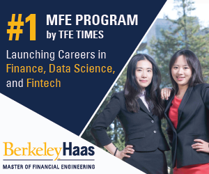 University of California Berkeley Master of Financial Engineering MFE Sideboard