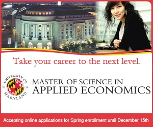 University of Maryland Master of Science in Applied Economics